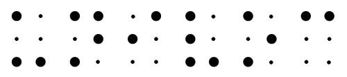 UNIVOC in braille